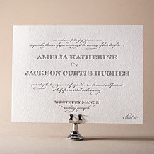 Gracelyn Vintage Letterpress Invitation Design Small