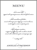 Gracelyn Vintage Letterpress Menu Design Small
