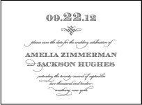 Gracelyn Vintage Letterpress Save The Date Design Small