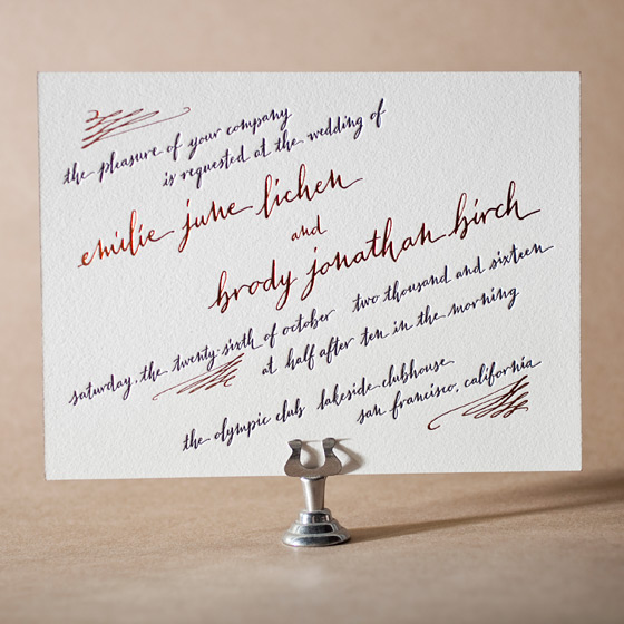 Gracieux Letterpress Invitation Design Small