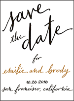 Gracieux Letterpress Save The Date Design Small