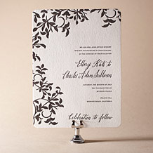 Gramercy Letterpress Invitation Design Small