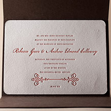 Greenwich Letterpress Invitation Design Small