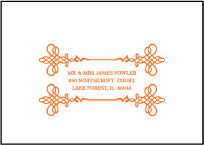 Greenwich Letterpress Reply Envelope Design Small