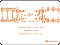 Greenwich Letterpress Save The Date Design Small