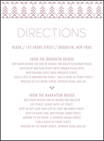 Greyson Letterpress Direction Design Small