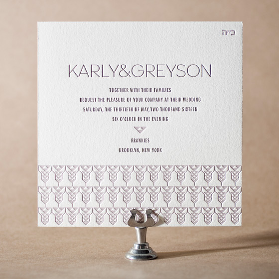 Greyson Letterpress Invitation Design Small