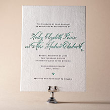 Hailey Modern Letterpress Invitation Design Small