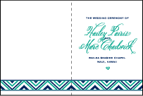 Hailey Modern Letterpress Program Design Small