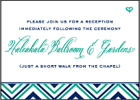 Hailey Modern Letterpress Reception Design Small