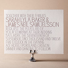 Handdrawn Letterpress Invitation Design Small