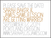 Handdrawn Letterpress Save The Date Design Small