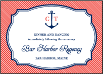 Harbor Beach Letterpress Reception Design Small