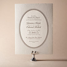 Harlow Letterpress Invitation Design Small