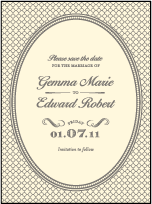 Harlow Letterpress Save The Date Design Small