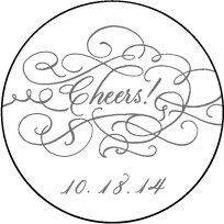 Hayes Calligraphy Letterpress Coaster Design Small