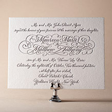 Hayes Calligraphy Letterpress Invitation Design Small