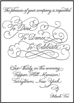 Hayes Calligraphy Letterpress Reception Design Small