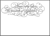 Hayes Calligraphy Letterpress Reply Design Small