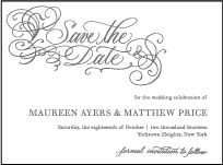Hayes Calligraphy Letterpress Save The Date Design Small