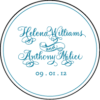Helena Letterpress Coaster Design Small