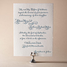 Helena Letterpress Invitation Design Small