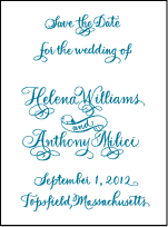Helena Letterpress Save The Date Design Small