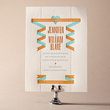 Herald Letterpress Invitation Design Small