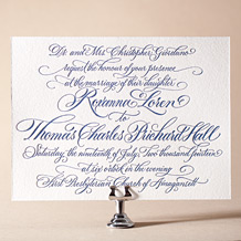 Honoured Guest Letterpress Invitation Design Small