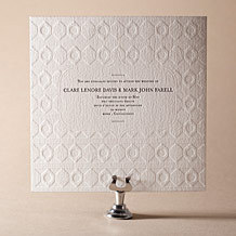 Hoxton Letterpress Invitation Design Small