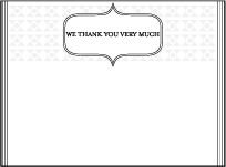 Hoxton Letterpress Thank You Card Flat Design Small