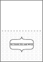 Hoxton Letterpress Thank You Card Fold Design Small