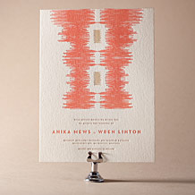 Ikaty Letterpress Invitation Design Small