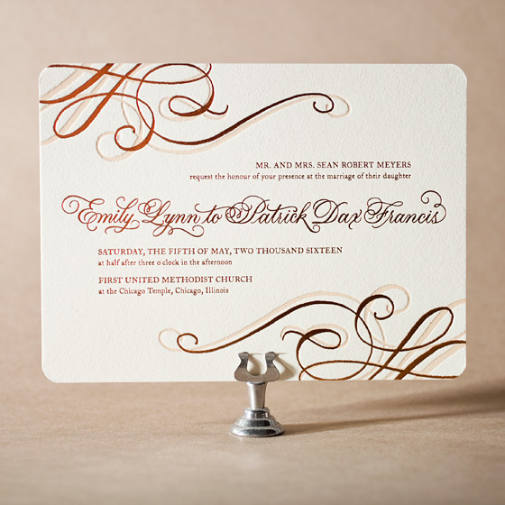 Illuminer Letterpress Invitation Design Small