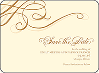 Illuminer Letterpress Save The Date Design Small