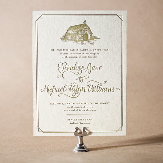 Imogene Letterpress Invitation Design Small