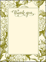 Imogene Letterpress Thank You Card Flat Design Small