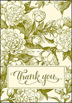 Imogene Letterpress Thank You Card Fold Design Small