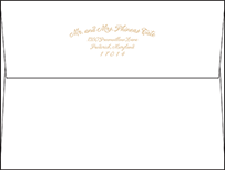 Indian Summer Letterpress Envelope Design Small