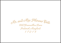 Indian Summer Letterpress Reply Envelope Design Small