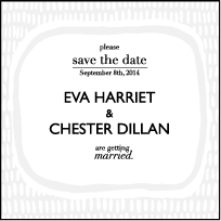 Indie Twill Letterpress Save The Date Design Small