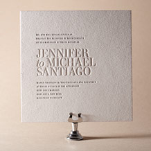 Irving Letterpress Invitation Design Small