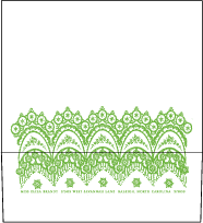 Istanbul Lace Letterpress Envelope Design Small