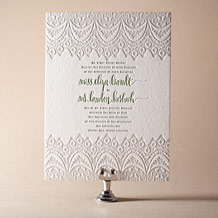 Istanbul Lace Letterpress Invitation Design Small