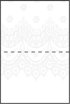 Istanbul Lace Letterpress Placecard Fold Design Small
