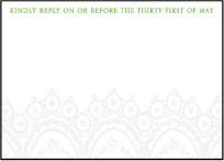 Istanbul Lace Letterpress Reply Design Small