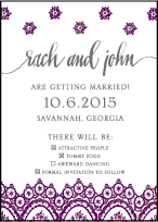 Istanbul Lace Letterpress Save The Date Design Small