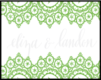 Istanbul Lace Letterpress Stamp Design Small
