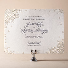 Janelle Elegance Letterpress Invitation Design Small