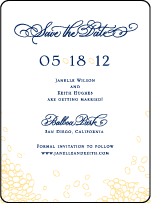Janelle Elegance Letterpress Save The Date Design Small